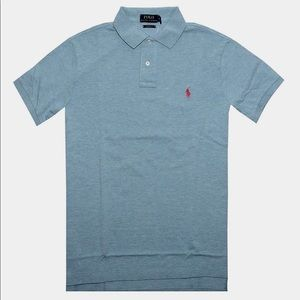 Men's Light Blue Slim Fit Ralph Lauren Polo. Sz. M